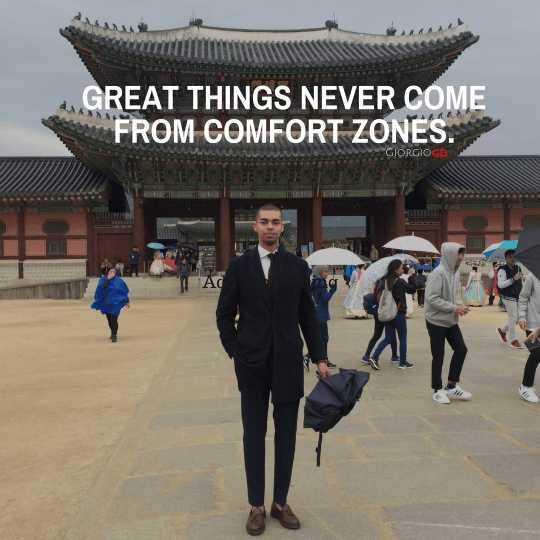 Great things NEVER come from COMFORT zones. about page