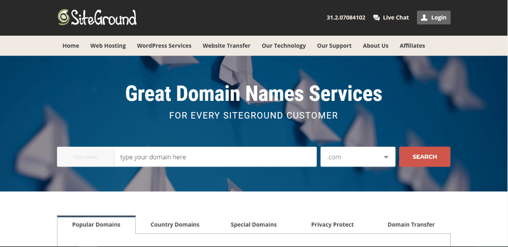 domain name siteground cost