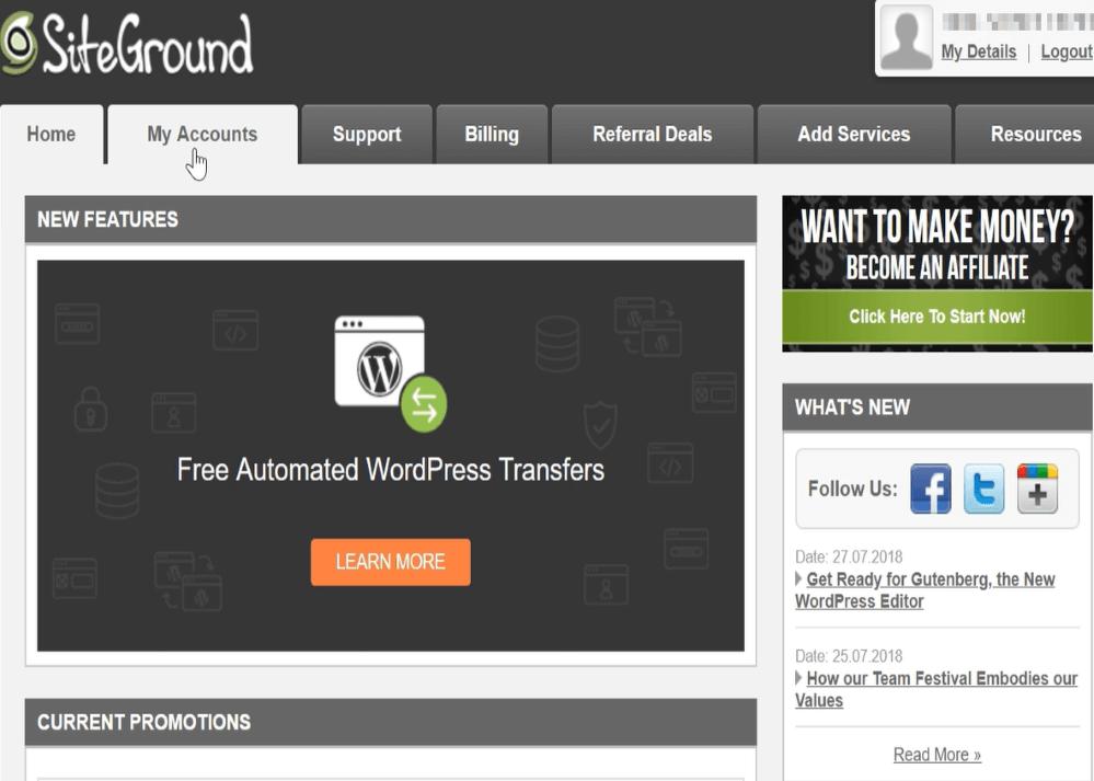 how to start wordpress blog on siteground